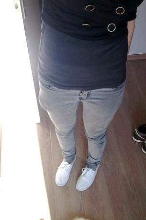 H&M top - H&M jacket - Cheap Monday jeans - new look shoes - Zara shoes