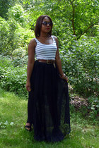 black maxi Trouve skirt - dark brown Betsey Johnson sunglasses