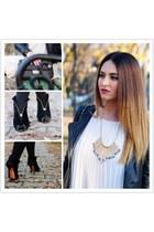 Roberta Biagi bracelet - asos dress - Roberta Biagi jacket - Moschino bag
