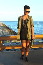 cargo TJ Maxx jacket - lbd Forever 21 dress - cat eye Target sunglasses