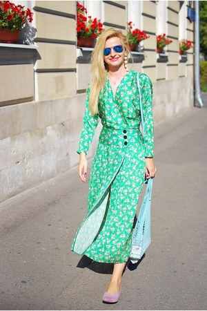 turquoise blue asos dress