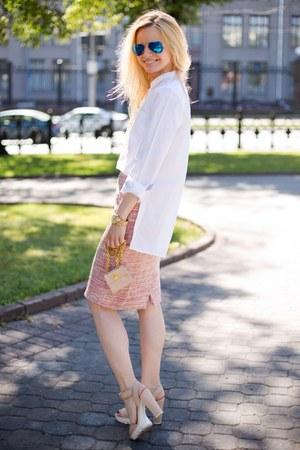 Zara shirt - Ray Ban sunglasses - Zara sandals