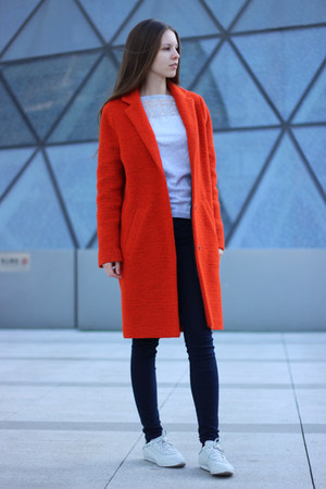 carrot orange Topshop coat
