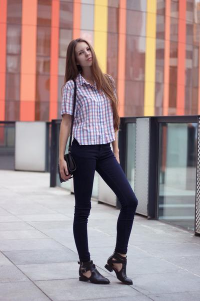 peach Topshop blouse