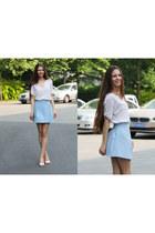 aquamarine Bershka skirt