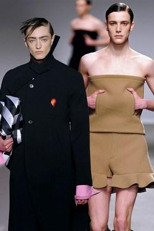 black Raf Simons coat