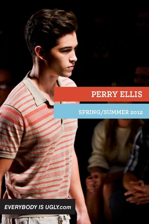 tan Perry Ellis shirt