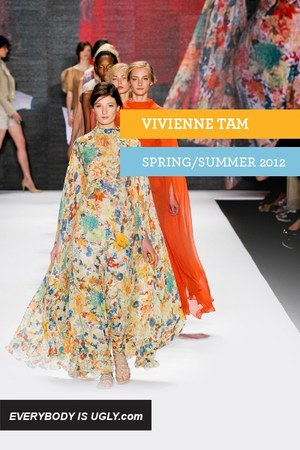 orange Vivienne Tam dress