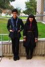 Dark-gray-coat-navy-skirt-hot-pink-shirt-light-blue-jacket-navy-jacket-