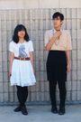 Black-skirt-black-pants-white-skirt-beige-shirt-white-shirt-brown-boot