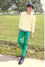 Green-levis-jeans-army-green-urban-outfitters-jacket-light-yellow-sweater-
