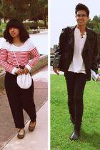 black leather H&M jacket - brown flats kohls shoes - black 510 Levis jeans