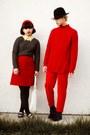 Black-h-m-hat-dark-gray-gap-sweater-red-h-m-sweater