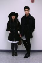 black coat - black Forever 21 coat - black Levis jeans - black H&M sweater