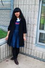Red-creepers-demonia-shoes-navy-charlotte-russe-dress-black-forever-21-coat-