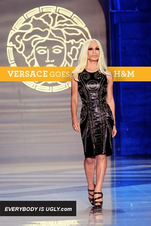 Black-leather-studded-versace-dress