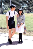 white skirt - black American Apparel jumper