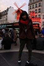 american eagle outfitters scarf - Zara blazer - Zara pants