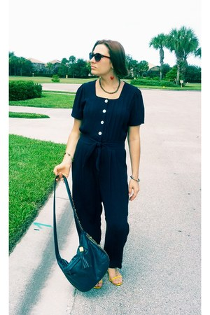 leather venezia bag - navy silk Molly Malloy bodysuit