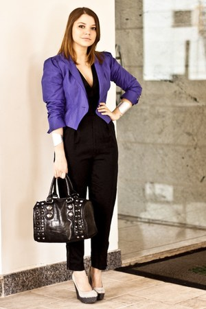 blue shop 126 blazer - black Aldo bag - black Stella McCartney for C&A romper