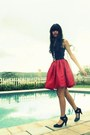 Black-top-ruby-red-gurls-skirt-black-maurices-heels