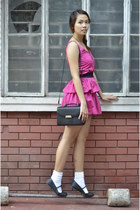 zippers Pink Manila dress - leather vintage Newport bag