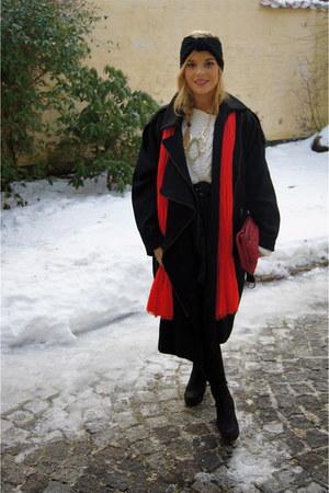 weekday jacket - Vagebond shoes - H&M scarf - Miu Miu bag - Edies eyes necklace