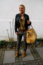 black Zara jacket - brown Zara belt - brown Zara shoes - brown Tiger of Swede