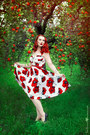 Red-floral-stop-staring-clothing-dress