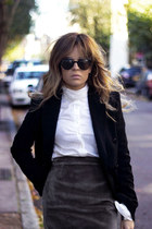 charcoal gray warehouse skirt - black ZARA STUDIO blazer