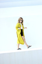 black Mango skirt - yellow Zara coat - white Urban Outfitters shirt