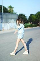 Urban Outfitters shirt - Zara shorts - Bimba & Lola heels