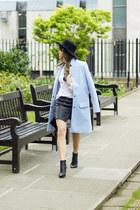 violet Fashion Union coat - aquamarine Massimo Dutti shirt - teal H&M skirt