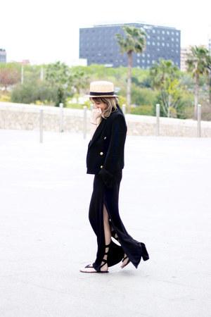 Zara blazer - H&M dress - Beyond Retro hat - Zara sandals