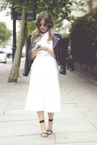 black H&M jacket - white Massimo Dutti shirt - black Bershka heels
