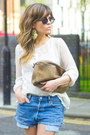 Sky-blue-levis-shoes-bubble-gum-sfera-shirt-periwinkle-loewe-bag