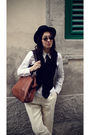 Black-vintage-hat-black-vintage-vest-blue-waterville-tie-white-miu-miu-shi