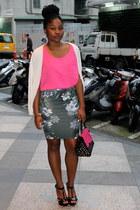 Zara skirt - NET blouse - Aldo heels