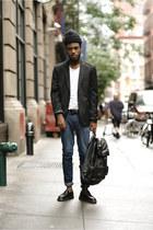 Zara blazer - doc martens loafers - Levis pants
