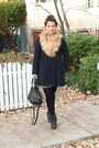 Lace-up-aldo-boots-a-line-zara-coat-waffle-madewell-sweater