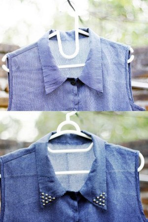navy DIY shirt