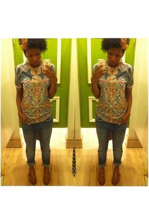navy boyfriend jeans H&M jeans