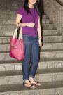 Giordano-shirt-nine-west-bag-celine-pants-charles-keith-flats