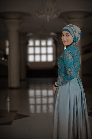turquoise blue homemade dress