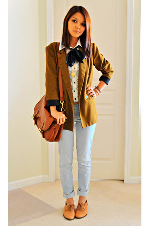H&M bag - Urban Outfitters shoes - Zara jeans - Forever 21 blazer - H&M shirt