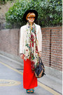 Navy-fendi-bag-dark-brown-bottega-veneta-sunglasses-red-yesimfrench-skirt