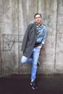 Gray-h-m-coat-turquoise-blue-zara-jeans-turquoise-blue-zara-jacket