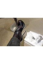 black satin Nine West heels