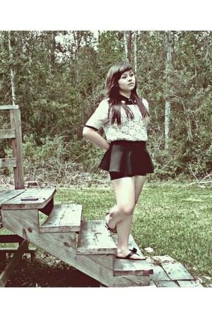 Forever21 top - peplum UrbanOG shorts - Forever21 blouse