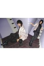 black globalize dress - pink Tokito blazer - black Dollhouse shoes